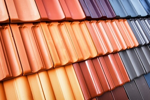 Selection of new terracotta roof tile colours and designs